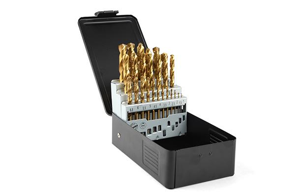 Borrkassett TIN 1-13mm, metall