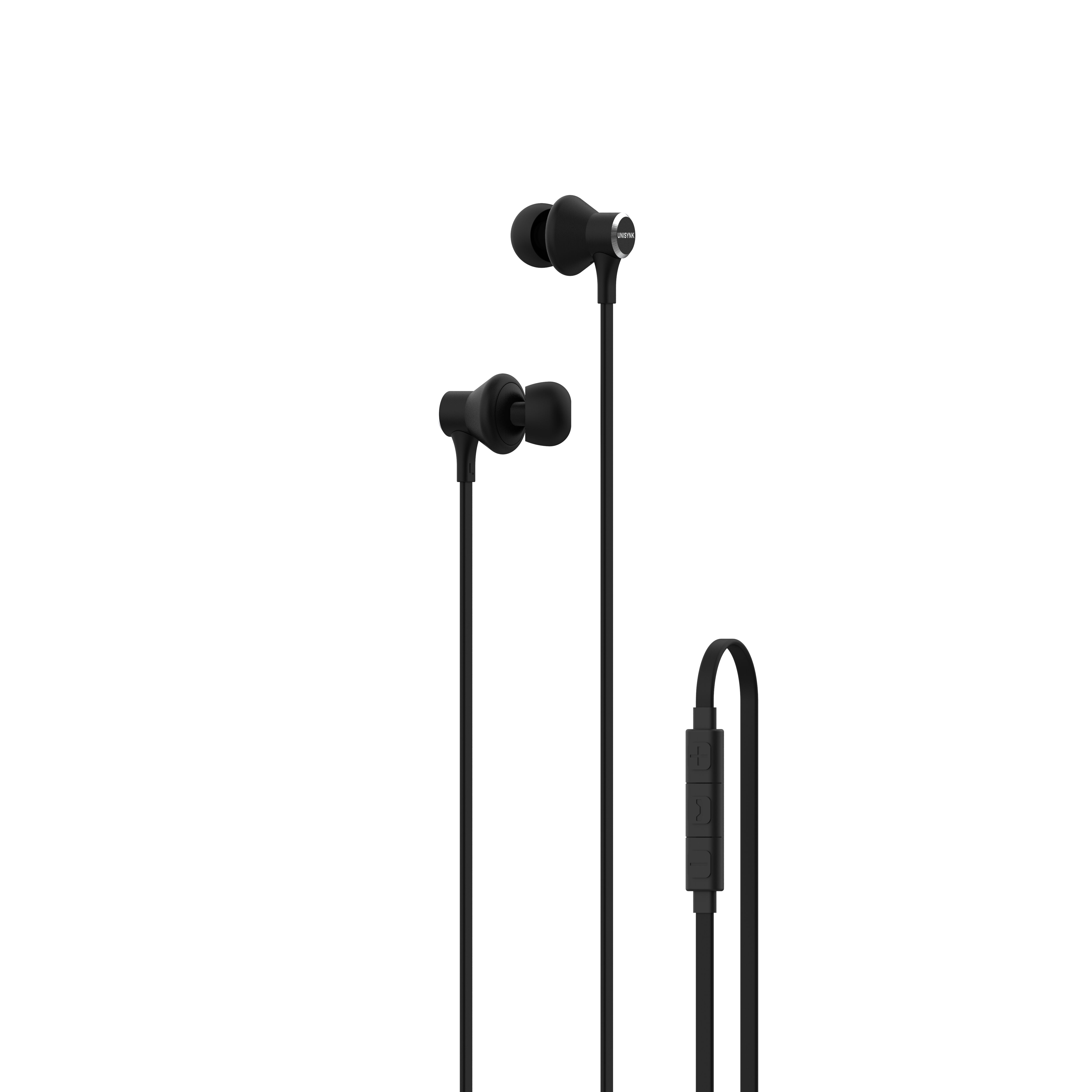 Unisynk in-ear hörlur svart