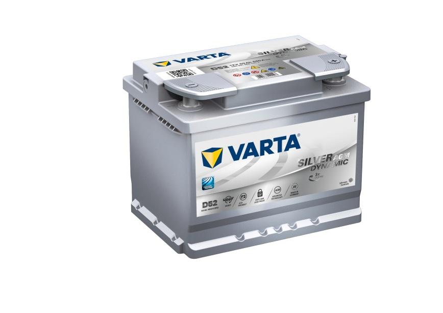 Batteri D52 Silver Dynamic AGM