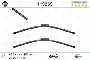 Flatblade set 650 + 350 mm