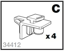 Monteringspåse C skidhållare