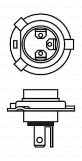 Halogen H4 12V 60/55W P43t ECO