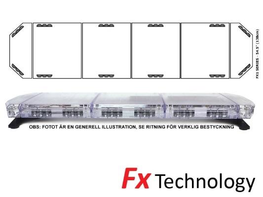 Blixtramp LED FX1 1115AC 138cm