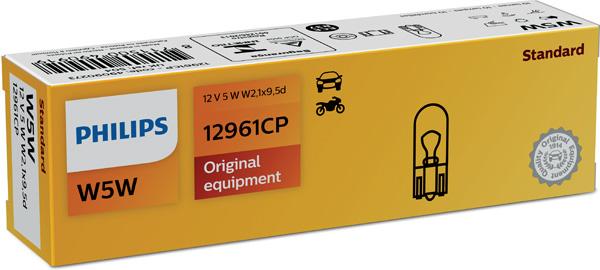 Glödlampa 12V 5W W2,1x9,5d