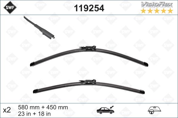 Flatblade set 580 + 475mm