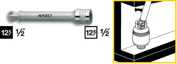 """Förlängare med kula 1/2"""" 123mm"""