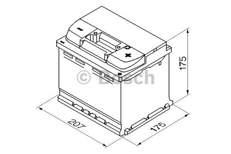 Batteri S4 001 Bosch 44Ah